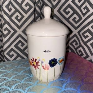 Rae Dunn Bloom Sugar Canister NWT SEE DESCRIPTION